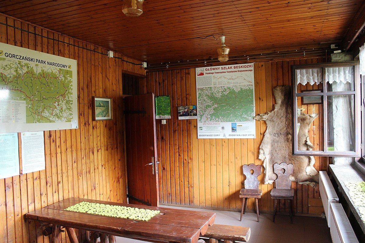Schronisko PTTK na Starych Wierchach wnętrze
